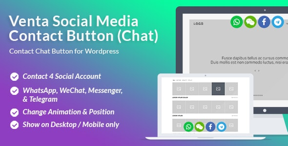 Venta Social Media Contact Button - CodeCanyon Item for Sale