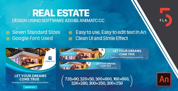 Real Estate  Banner Ad  HTML5 (Animate CC)