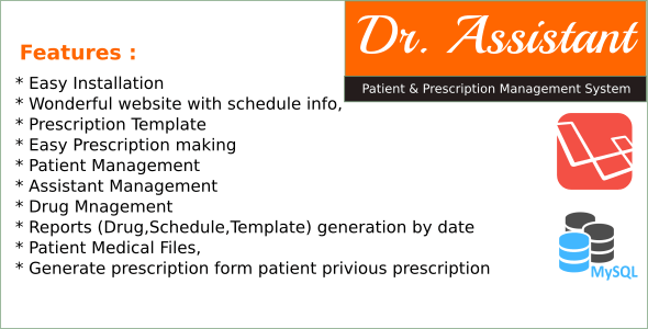 Dr.Assistant - Patient and Prescription Management System in Laravel - CodeCanyon Item for Sale
