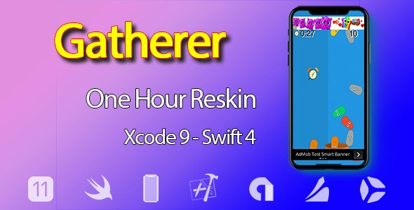 Gatherer – One Hour Reskin - iOS 11 and Swift 4 ready - CodeCanyon Item for Sale