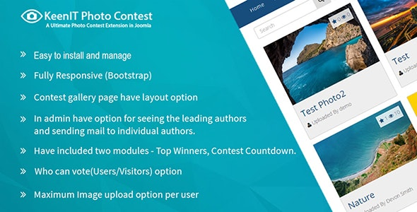 Photo Contest Joomla Extension - CodeCanyon Item for Sale
