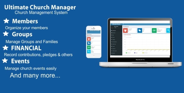 Ultimate Church Manager - CodeCanyon Item for Sale
