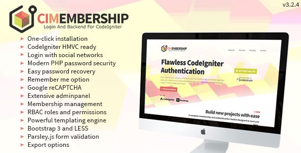 CodeIgniter Membership - Social Login, Adminpanel and Roles