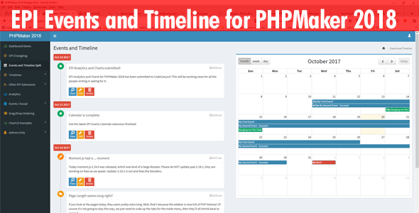 EPI Events Calendar for PHPMaker 2018