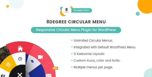8Degree Circular Menu - Responsive Circular Menu Plugin for WordPress - CodeCanyon Item for Sale