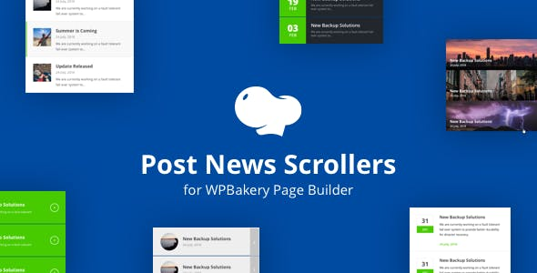 Post News Scrollers for WPBakery Page Builder (Visual Composer)