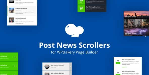 Post News Scrollers for WPBakery Page Builder (Visual Composer) - CodeCanyon Item for Sale