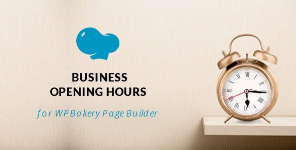 Opening Hours for WPBakery Page Builder (Visual Composer)