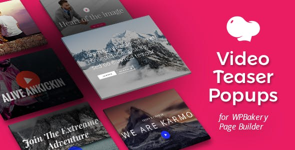 Video Teasers for WPBakery Page Builder (Visual Composer)