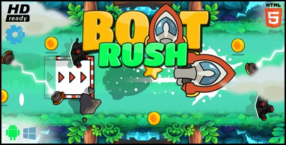 Boat Rush HTML5 Game - CodeCanyon Item for Sale