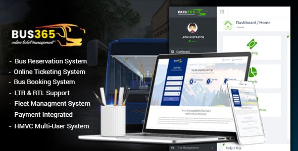 Bus365 - Bus Reservation System with Website