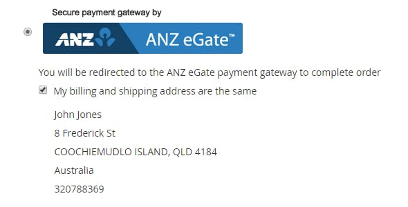 Magento 2 ANZ eGate Payment Gateway