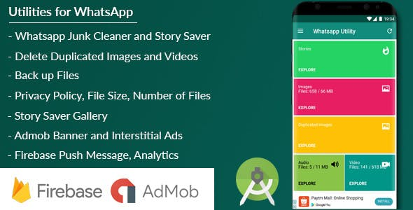 Utility for WhatsApp - Junk Cleaner/Story Saver/Back Up