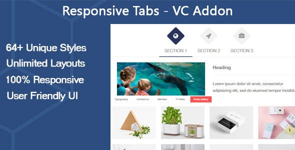 Responsive Tabs - VC Addon