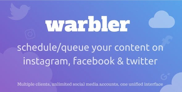 Warbler - Social Posting Scheduler for Facebook, Instagram, Twitter and more