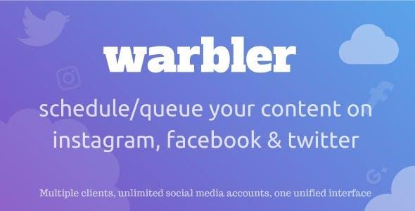 Warbler - Social Posting Scheduler for Facebook, Instagram, Twitter and more