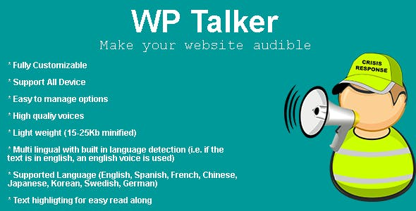 WP Talker - Make your wordpress audible