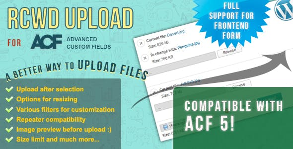 Rcwd Upload for Advanced Custom Fields