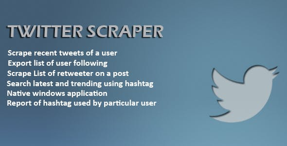 Twitter Scraper Plugins, Code & Scripts from CodeCanyon
