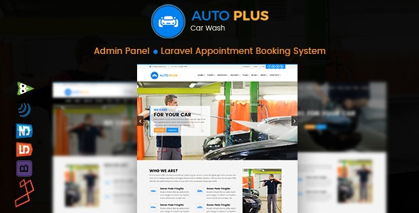 Auto Plus – Laravel Car Wash Booking - CodeCanyon Item for Sale