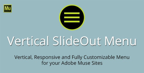 Vertical SlideOut Menu Adobe Muse Widget by MuseTemplatesPro
