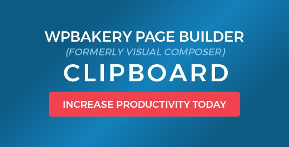 WPBakery Page Builder Clipboard - CodeCanyon Item for Sale