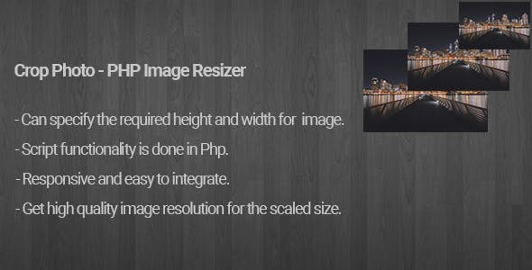 Crop Photo - PHP Image Resizer