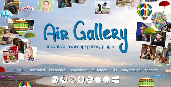 Air Gallery - JavaScript Gallery Plugin - CodeCanyon Item for Sale