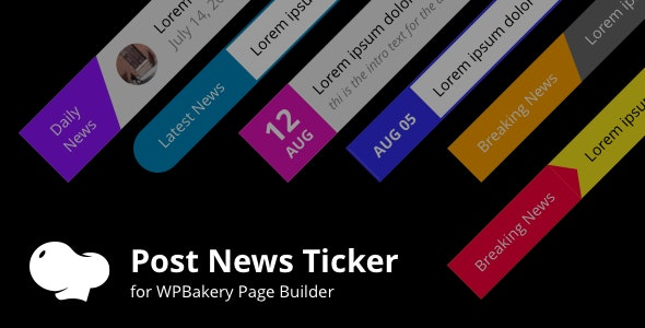 Posts News Tickers for WPBakery page builder (Visual Composer) - CodeCanyon Item for Sale