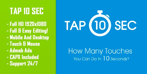 Tap 10 Sec - HTML5 Game + Mobile Version! (Construct-2 CAPX) - CodeCanyon Item for Sale