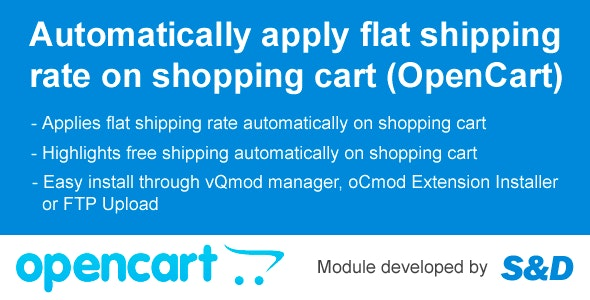 Auto Shipping Extension for OpenCart (vQmod/oCmod) - CodeCanyon Item for Sale