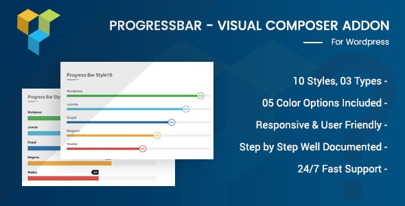 Advance Progress Bar For Visual Composer - CodeCanyon Item for Sale