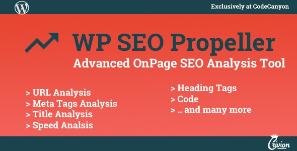 WP SEO Propeller - Advanced SEO Analysis Tool - CodeCanyon Item for Sale