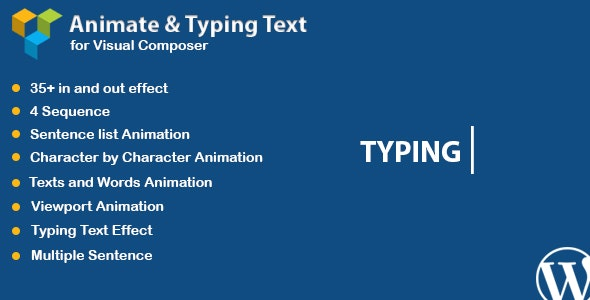 WPBakery Page Builder - Animated Text and Typing Effect (formerly Visual Composer) - CodeCanyon Item for Sale