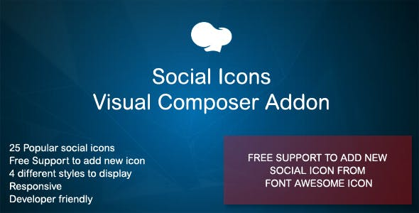 Social Icons Visual Composer Addon