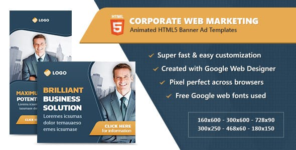 HTML5 Banner Ad Templates - Corporate Web Marketing