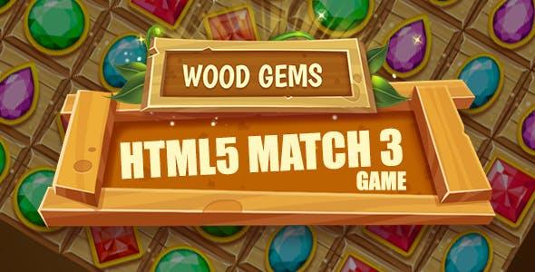 Wood Gems HTML5 Game