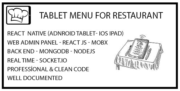 Tablet Menu for Restaurants