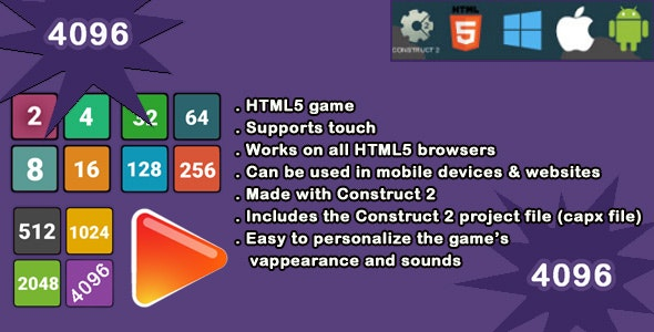 4096 HTML5 Game - CodeCanyon Item for Sale
