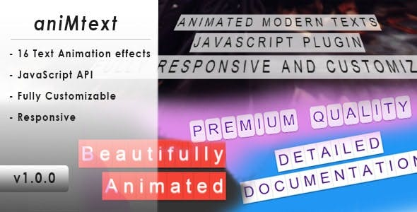 aniMtext – Responsive Animated Modern Texts Plugin
