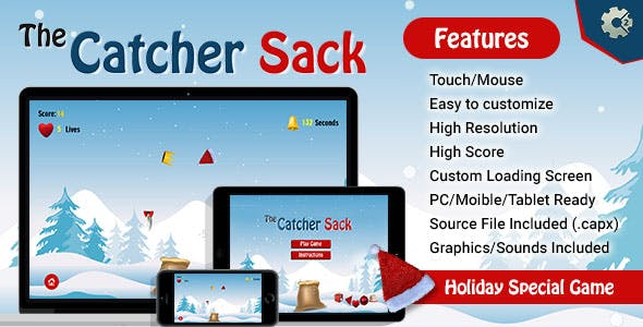 The Catcher Sack - HTML5 Game
