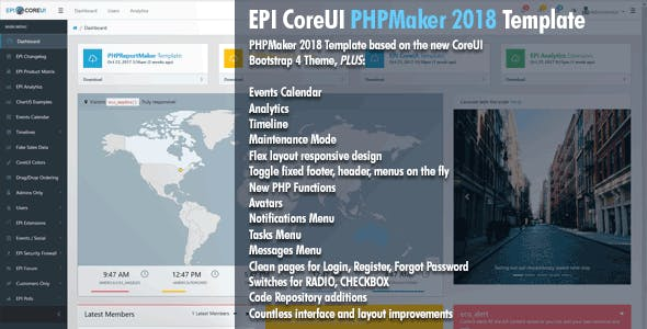 EPI CoreUI Template for PHPMaker 2018