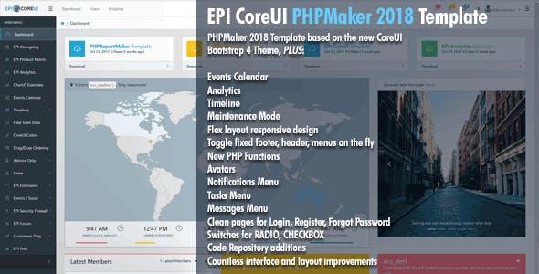 EPI CoreUI Template for PHPMaker 2018