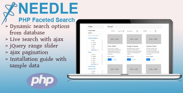 Needle - PHP Faceted Search by smartrahat | CodeCanyon