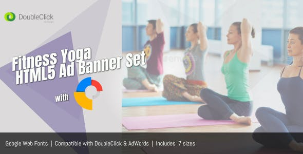 GWD HTML5 Banner Ad Templates - Fitness Yoga