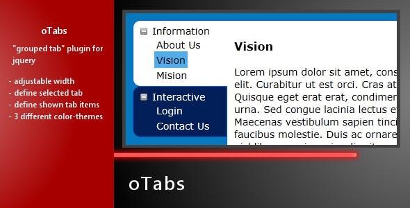 oTabs - jQuery Grouped Tab Plugin