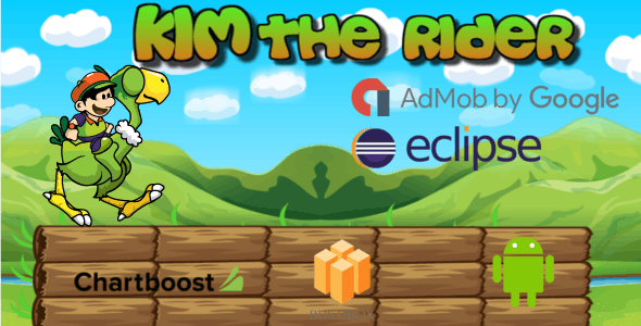 Kim The Rider- Buildbox Game Template + Android Eclipse Project Template (BBDOC)