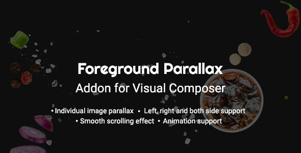 Foreground Parallax Effect Visual Composer Addon