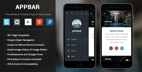 AppBar | PhoneGap & Cordova Mobile App