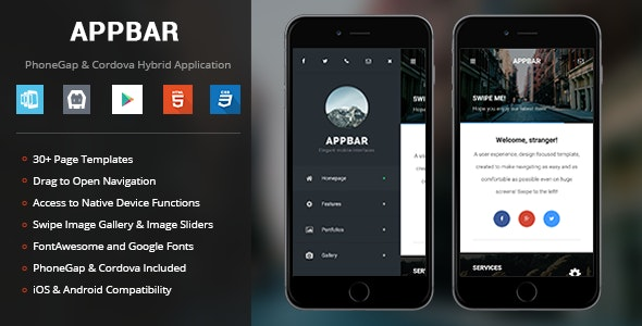 AppBar | PhoneGap & Cordova Mobile App by Enabled | CodeCanyon